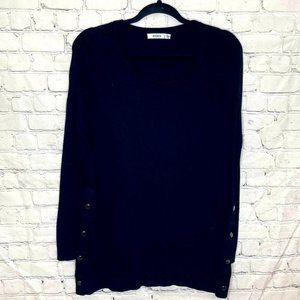 Ricki's crew neck sweater with metal button detail
